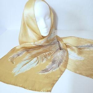 Vera Neumann Vintage Silk Feather Scarf